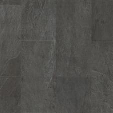 Виниловая плитка  Quick-Step Ambient Glue Plus Сланец чёрный AMGP40035, кварцвиниловая плитка
