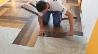 Правильная укладка виниловой плитки на клей